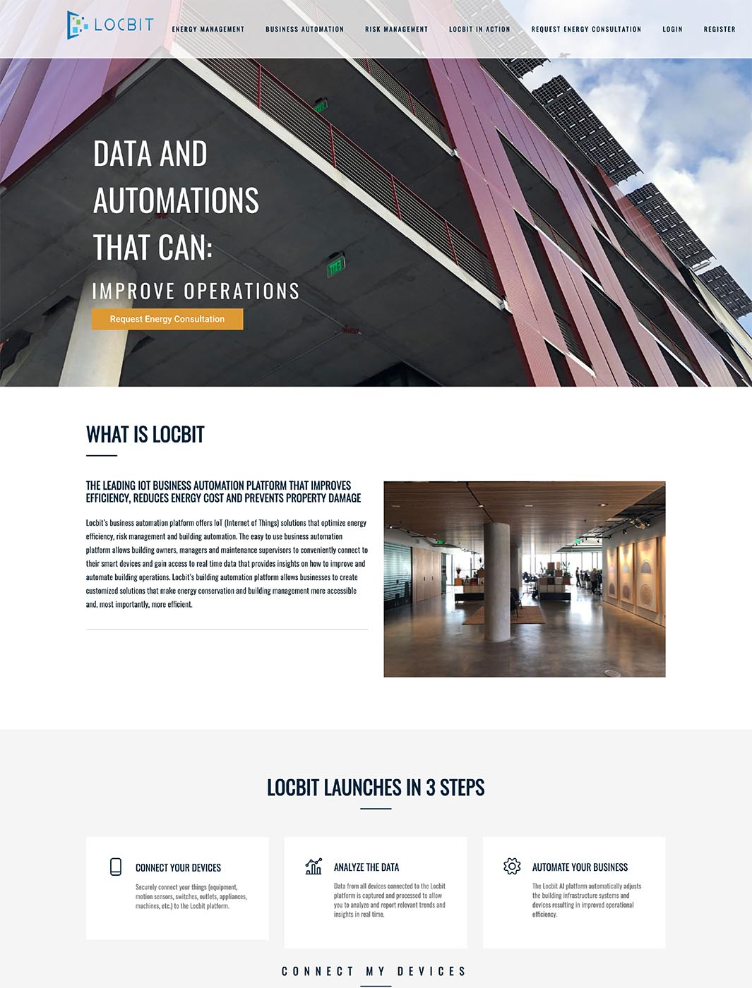Locbit Website Home Page